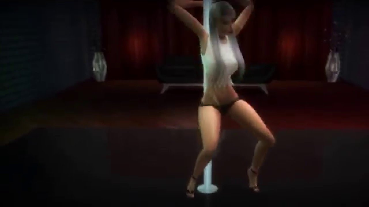 Strip tease dancing
