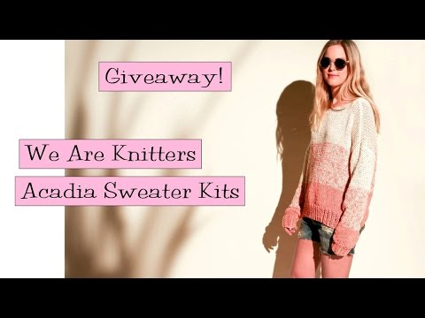 Giveaway! We Are Knitters Acadia Sweater Kits