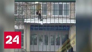 В Уссурийске школьника заставили чистить от снега крышу - Россия 24