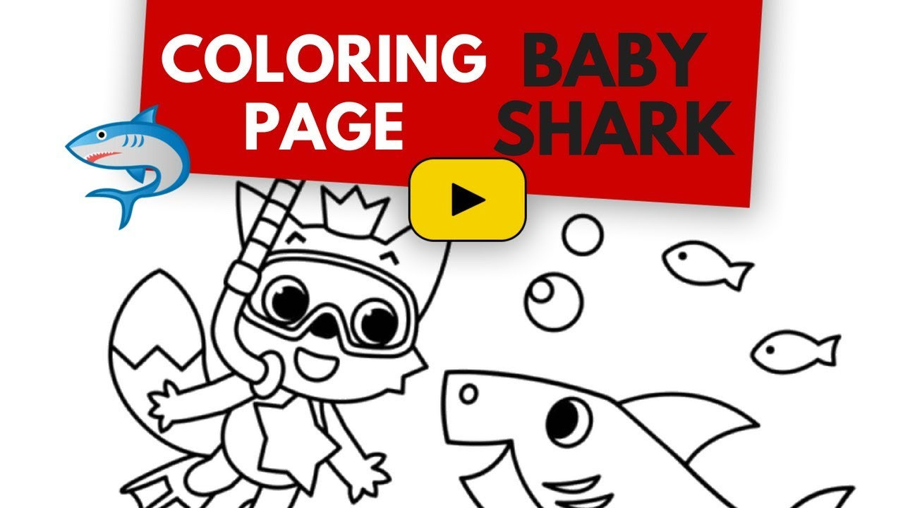 Baby Shark Coloring Book - Let's Color This Pinkfong & Baby Shark ...