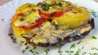 Мясо по-французски с картофелем и помидорами. Мамулины рецепты.