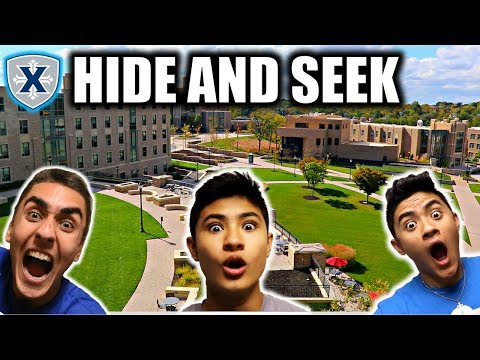 HIDE AND SEEK AT UNIVERSITY!! (COLLEGE)
