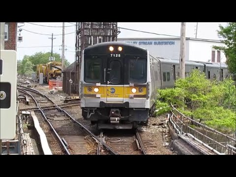 LIRR a Sunny Thursday Rush Hour in Valley Stream