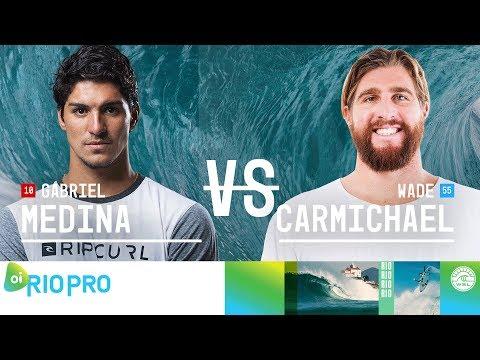Gabriel Medina vs. Wade Carmichael - Quarterfinals, Heat 3 - Oi Rio Pro 2018