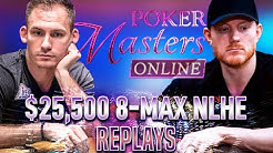 POKER MASTERS Online #16 $25k KOON | BONOMO | SMITH Final Table Poker Highlights