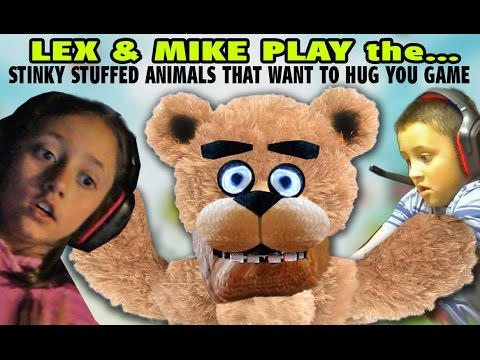 Mike & Lex play the Stinky Stuffed Animals that Want to Hug You Game! Five Nights At Freddys 2| FNAF