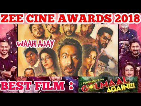 Golmaal Again Wins Best Film At Zee Cine Awards 2018 | Ajay Devgn