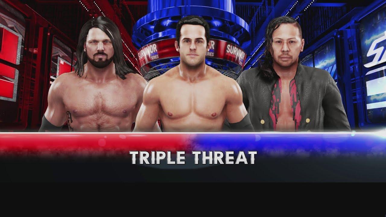 WWE 2K19 | Roderick Strong vs. AJ Styles vs. Shinsuke Nakamura