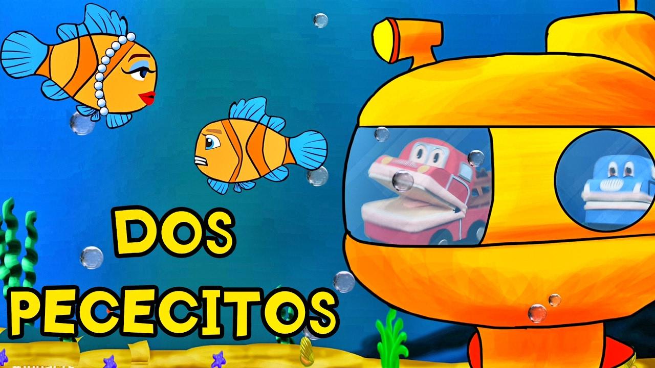 DOS PECECITOS SE FUERON A NADAR - Canciones Infantiles - Barney El Camión  Lunacreciente