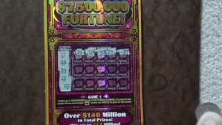 """7,500,000 Fortune"" Texas Lottery $50 Scatch Off Ticket!"
