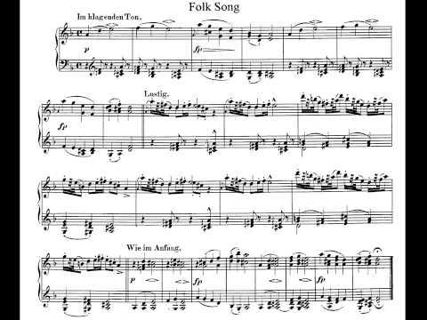 Schumann. Album for the Young Op. 68. 9- Folk Song Partitura E Interpretación