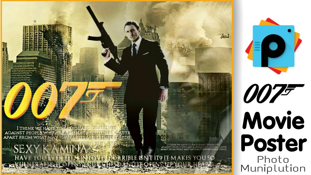 Picsart editing tutorial movie poster design photo manipulation picsart editing tutorial movie poster design photo manipulation 007 james bond movie poster youtube altavistaventures Image collections