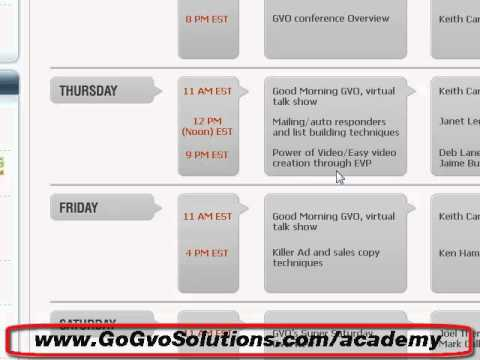 GVO Academy- internet marketing help and livecoaching