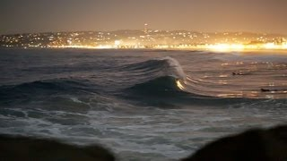 Night Surfing - Mission Beach, San Diego