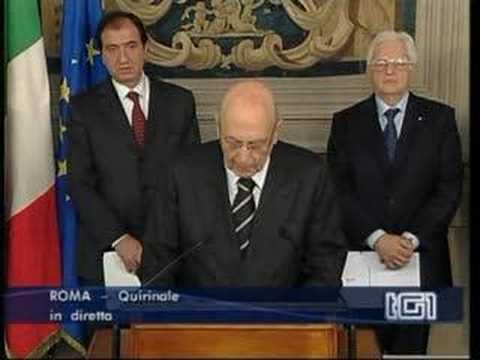 Napolitano scioglie il parlamento in diretta tutti al for Parlamento in diretta