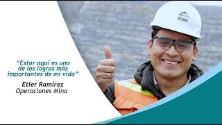 Etler Ramírez comparte su experiencia en Antamina