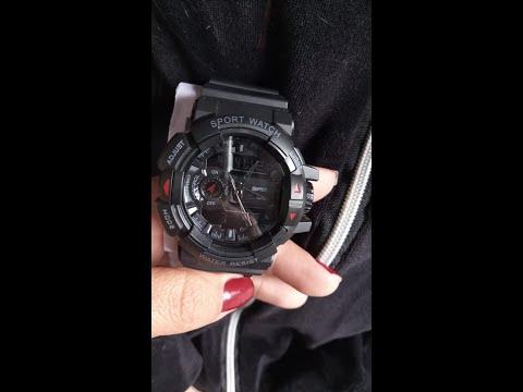 Importação Wish SANDA Relógio de Pulso Homens Estilo Esporte Militar