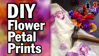 DIY Flower Petal Prints - Corinne Vs. Pin #10 - Pinterest Test