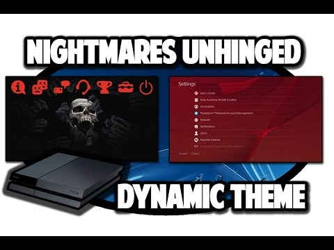 [PS4 THEMES] Nightmares Unhinged Dynamic Theme Video in 60FPS