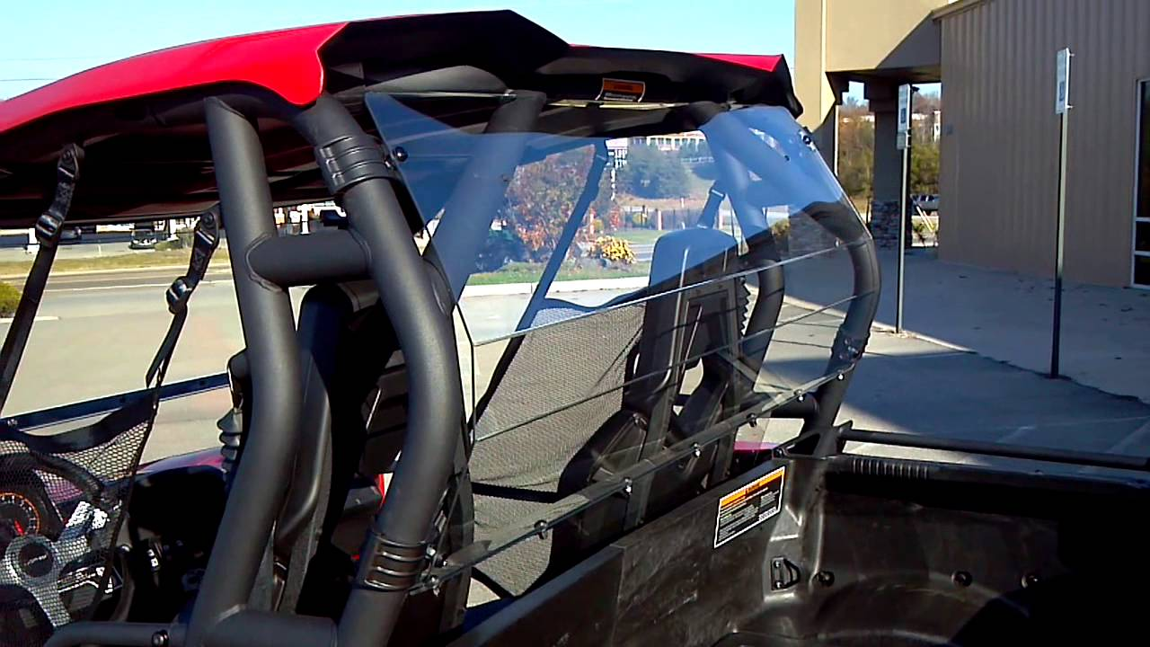 Alcoa Good Times >> 2013 CAN-AM COMMANDER 1000 XT RED TOP WINDSHIELD AND BACK ...