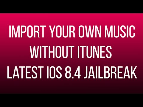 How to import your music to your music library without iTunes iOS 8.4 Jailbreak (Bridge Alternative)