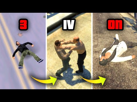 EVOLUTION of WASTED BY GETTING HIT in GTA GAMES 2001-2019