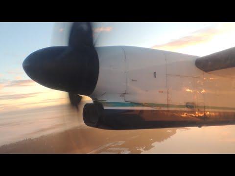 Alaska Airlines (Horizon Air) Bombardier DHC 8 Q400 [N410QX] dawn takeoff from PDX
