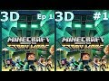 3D VR video TV Minecraft Story Mode S 2  Side by Side SBS