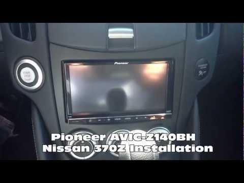 2012 pioneer avic-z140bh radio replacement nissan 370z al & ed's autosound  marina del rey - youtube