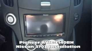 2012 Pioneer AVIC-Z140BH Radio Replacement Nissan 370Z Al & Ed