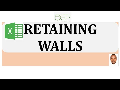 retaining wall design with excel sheet_English - YouTube