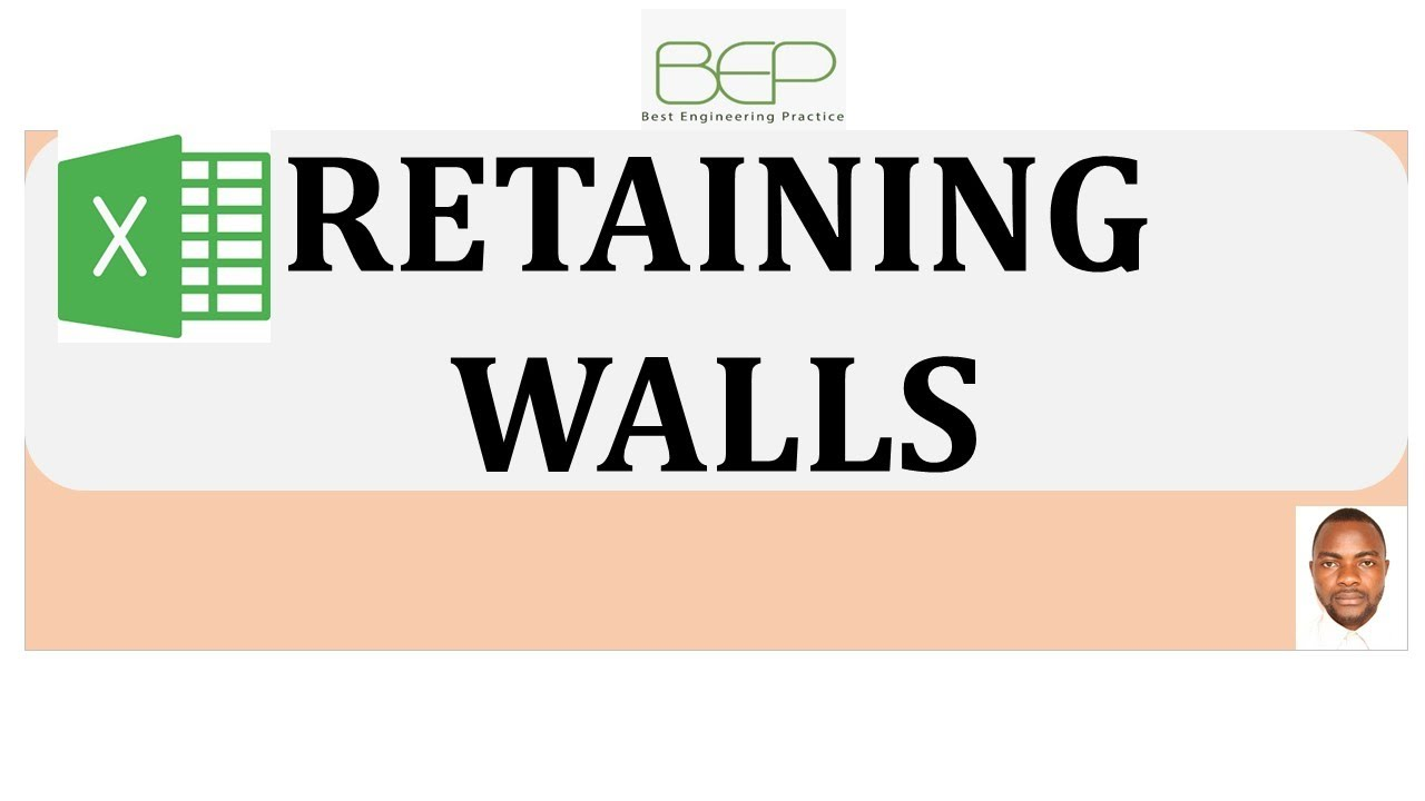 retaining wall design with excel sheet_English