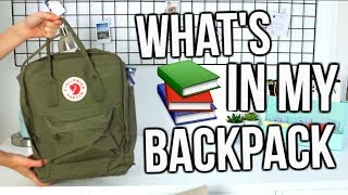 What's In My Backpack 2017-2018!