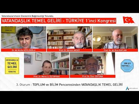 TOPLUM ve BİLİM Penceresinden VATANDAŞLIK TEMEL GELİRİ / VTG - TÜRKİYE 1'inci Kongresi