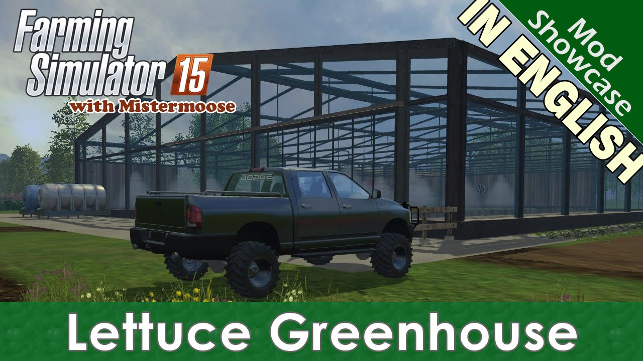 Farming Simulator 2015 - Lettuce Greenhouse - Mod Showcase