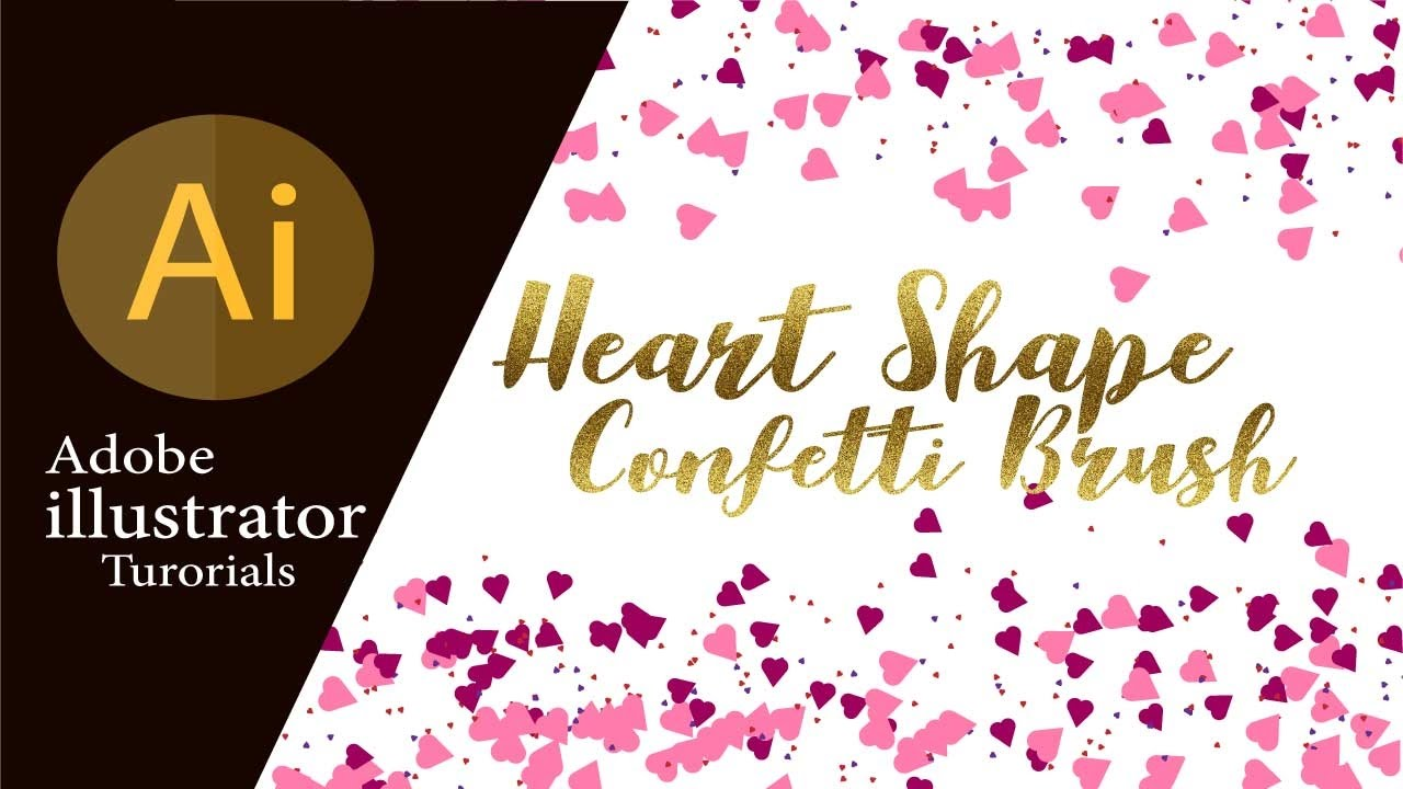 adobe illustrator tutorials how to create a confetti heart brush in illustrator cc