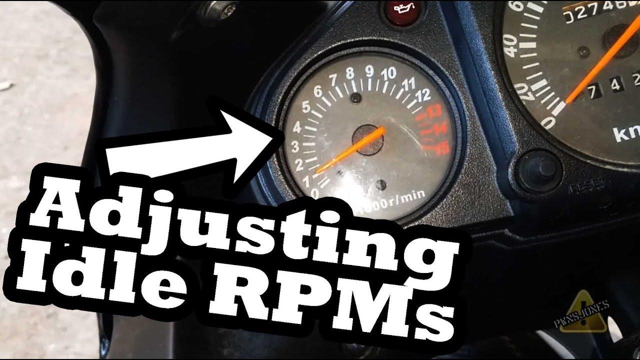 Adjust Engine Idle Ninja 250 Youtube Speedometer Jarum Manual Fuel Meter