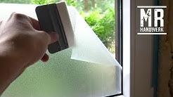 Fensterfolie ohne zu kleben anbringen! Ausführliche Anleitung