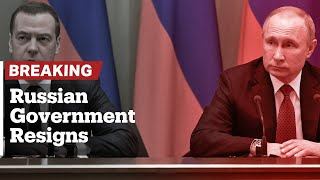 Government resigns in Russia