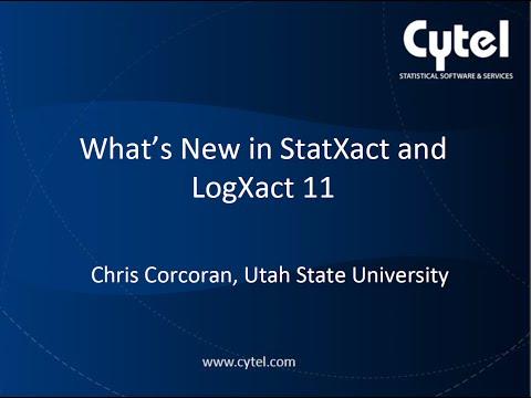 StatXact & LogXact 11 New Features Webinar (June 4, 2015)