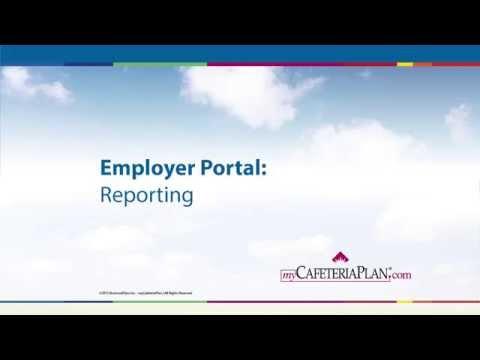 myCafeteriaPlan - Employer Portal  - Reporting