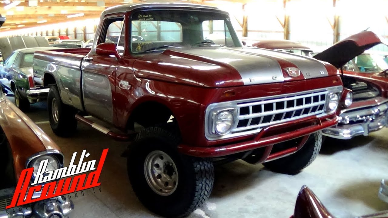 Ford F100 Twin Bean T 1964 F 250 Camper Special Pickup Truck Hood Side Nameplate I Beam Except