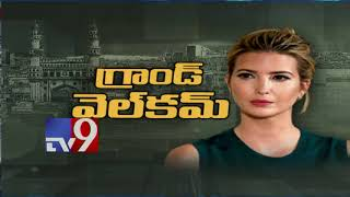 Ivanka Trump reaches Hyderabad ahead of GES 2017 - TV9