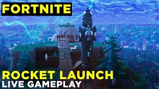 Fortnite Rocket Launch: Live Gameplay from the Launch Site and Aerial Views