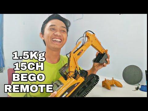 Huina 1550 1:14 Excavator BEGO Remote Ajaib :v