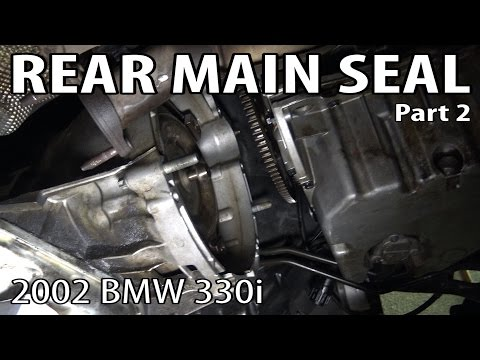 BMW E46 Rear Main Seal Replacement Part 2 - Transmission