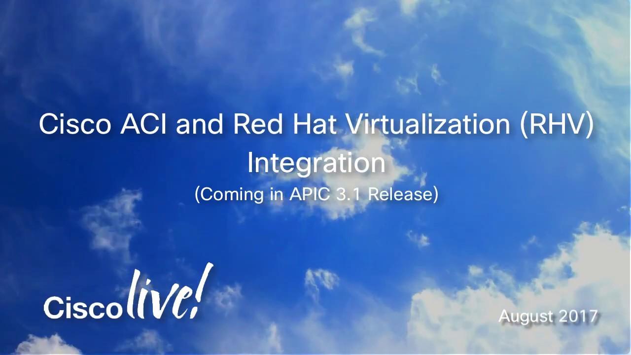 Cisco ACI and Red Hat Virtualization (RHV) Integration
