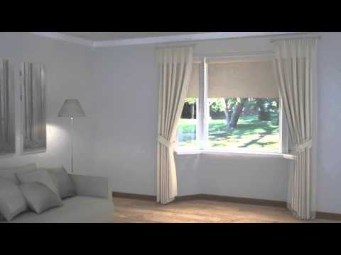 How to Dress Windows | Bay Windows with Curtains, Blinds & Pelmets