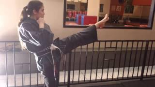 4 Counts Front Kick by 3rd degree Black Belt Sensei Dru Morin