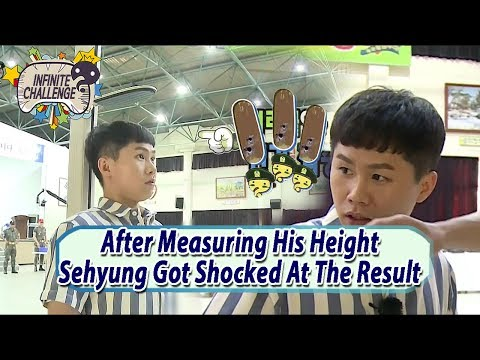 [Infinite Challenge Cover 'Real men'] Sehyung's Shocked At Disclosure His Real Height 20170701